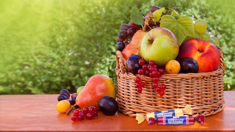 Fruit basket with Texschmelz