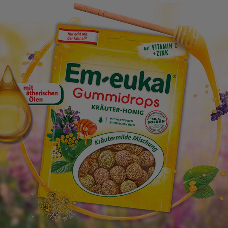 Em-eukal Gummidrops Kräuter-Honig
