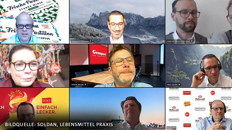 Lebensmittelpraxis virtueller Talk Süßwarentrends 2021 SOLDAN Em-eukal Perry Soldan