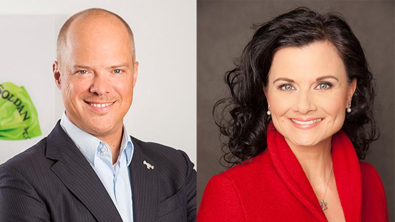 Perry Soldan und Gitta Connemann Portrait Politik Talk Lebensmittelzeitung