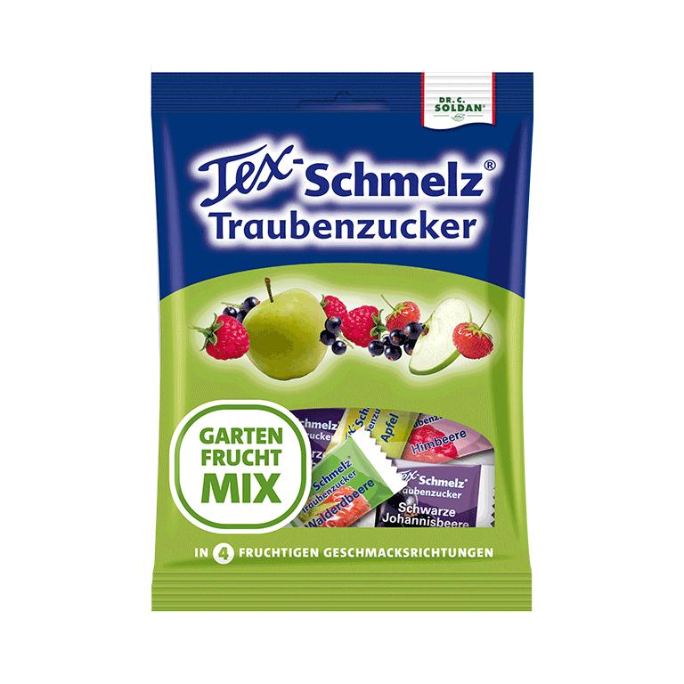 Tex-Schmelz Traubenzucker Gartenfrucht-Mix